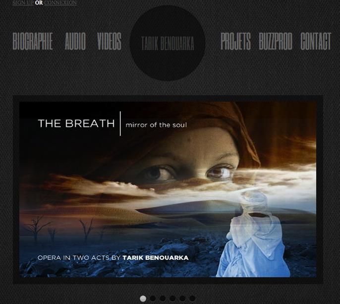 site de Tarik Benouarka, compositeur